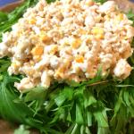 主食でイケる、ガッツリ鶏むねタルタルの水菜サラダ(糖質3.7g)