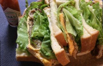 至福の旨さ。8枚切りパンとサバ缶で作るサバサンド(半糖質制限)