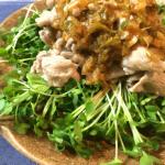 食欲無限大。黒酢ネギ大蒜の絶品さっぱり豚コマ炒め(糖質6.2g)