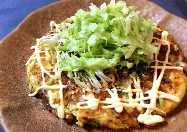 さらなる進化を。豚こま肉と豆腐のレタスお好み焼き(糖質12.8g)
