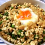 心のままに。鶏ひき肉のネギ味噌ソイライス丼(糖質13.4g)