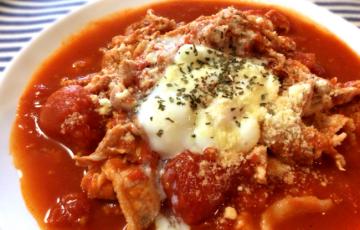 完熟トマト最高。柔らか豚こまと絡める山椒バジルの濃厚イタリアン(糖質10.8g)