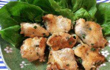 徹底カリッと。肉汁滴るゆず胡椒鶏皮ぎょうざ(糖質6.2g)
