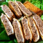 夜のお供に。油揚げ豚肉サンドは酢胡椒が最高(糖質4.9g)