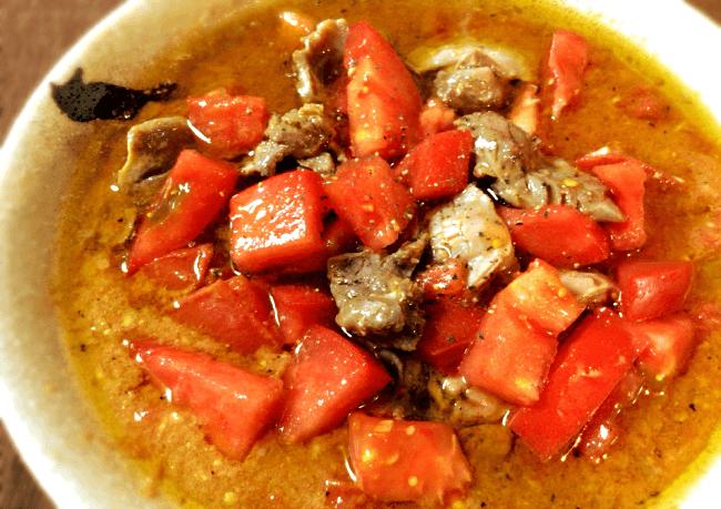 濃厚&さっぱり。トマト味噌の砂肝アヒージョ(糖質8.5g)