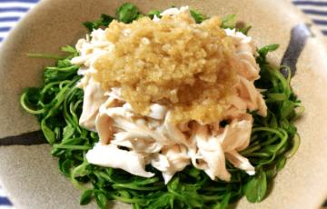 美味8分。朝食にはしっとり蒸し鶏アジアンソース(糖質5.6g)