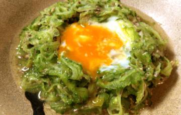 話題のレンジ3分常備菜。無限の旨さの無限ゴーヤ(糖質2.3g)