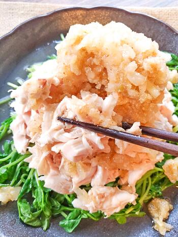 美味8分!朝食にはしっとり蒸し鶏アジアンソース(糖質5.8g)