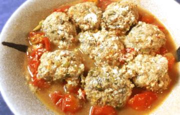 酸味は好きです?黒酢トマトの濃厚チーズ肉団子(糖質9.1g)