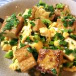 コスパ最高・旨さ◎。スイチリマヨエッグの厚揚げ小葱チャンプル(糖質4.9g)