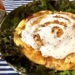 酸味と辛み。ランチドレッシングと濃厚チーズ鶏ピカタ(糖質4.5g)