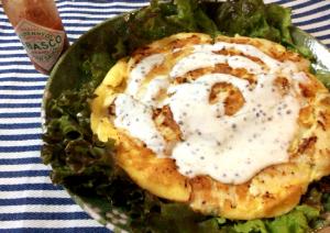 柔らか肉に酸味と辛み。ランチドレッシングと濃厚チーズ鶏ピカタ(糖質7.6g)