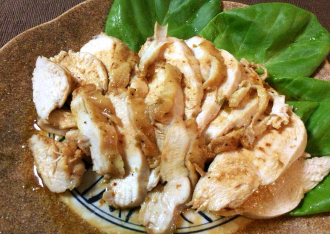 レンチン5分。最高に美味しい柔らか鶏むね柚子胡椒バター(糖質1.3g)