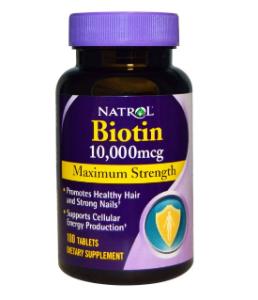 Natrol ビオチン (Biotin) 最大耐力 (Maximum Strength) 10,000mcg 100 Tablets