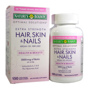 Nature's Bounty Optimal Solutions へア、スキン&ネイル、エクストラストレングス(Hair Skin & Nails Extra Strength) 150 Rapid Release Liquid Softgels