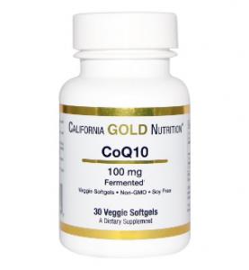 California Gold Nutrition. CoQ10 100 mg(ベジタブルソフトゼリー)
