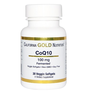 California Gold Nutrition, CoQ10, 100 mg, 30粒(ベジタブルソフトゼリー)