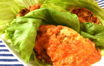 腹ペコ推奨。絶品トマトジンジャーチーズの肉汁チキン菜摘(糖質7.1g)