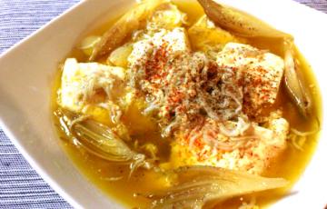 家飲み電光石火。お豆腐しらすの香味山椒アヒージョ(糖質5.1g)