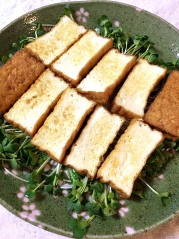 黒酢ガリバタの厚揚げエリンギステーキ(糖質4.8g)