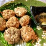 皮なしプリッと。酢胡椒が旨い溢れる肉汁砂肝シューマイ。(糖質9.8g)