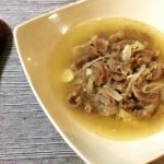 飲み干す一滴。砂肝と白髪ねぎの白湯風柚子胡椒スープ。(糖質4.4g)