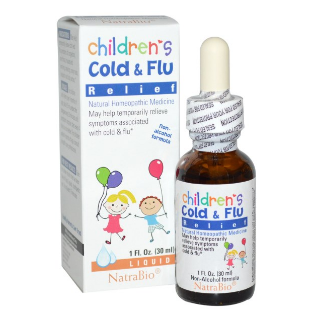 NatraBio, Children's Cold & Flu Relief, 1 fl oz (30 ml)