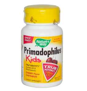 Nature's Way, ネイチャーズウェイ, Primadophilus, Kids, Cherry Flavor Chewables, Ages 2-12, 30 Tablets