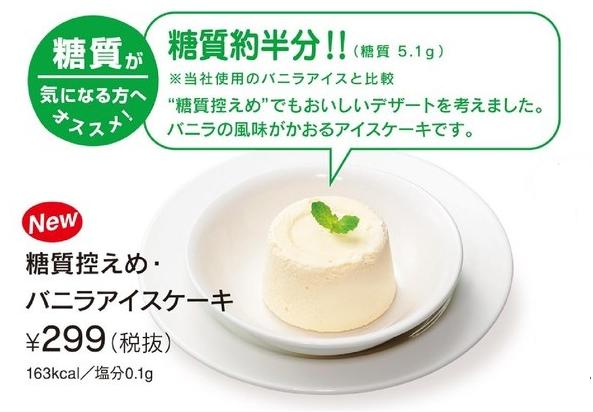 控えめアイスケーキ