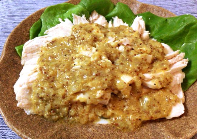喜びの食卓。迸る柔らかさのチキンマスタードカルパッチョ。(糖質5.0g)
