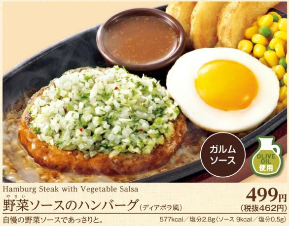 サイゼリヤ野菜ソースのハンバーグ