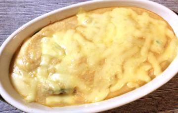お豆腐やりおる。白だしオイスターのチキンアボカドグラタン。(糖質4.5g)