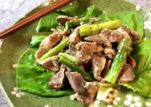 3キロ食べたい。常備推奨アスパラ砂肝の黒酢塩麹ナムル。(糖質3.7g)