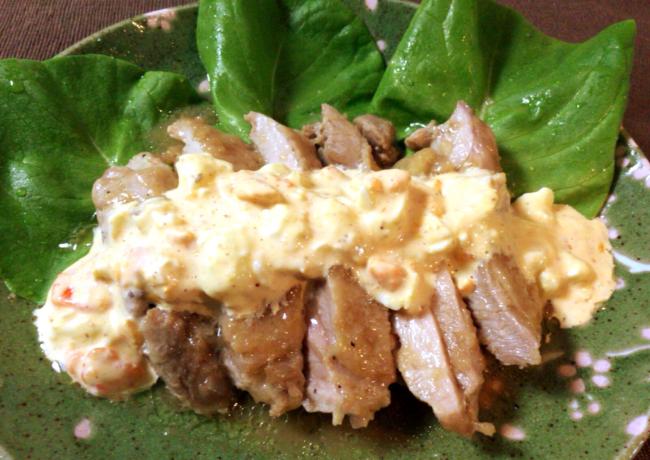 優勝ください。レンジで柔らか鶏肉オニオンぽん酢タルタル。(糖質5.1g)