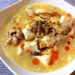 周知の美味しさ。朝ご飯には黒酢山椒の辛さっぱり酸辣湯。(糖質5.8g)