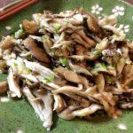 デトックス常備菜。レンチン2撃のネギ塩バター舞茸ナムル。(糖質2.7g)
