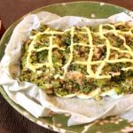 中から奴が。サバブロッコリーの絶品クリチマスタード焼き。(糖質4.3g)