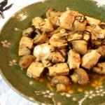 未知なる旨さ。塩昆布マスタードのオリーブチキン煮込み。(糖質4.5g)