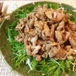 のど越し波状攻撃。水晶豚しゃぶの生姜辣油サラダ。(糖質7.4g)