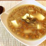 絶簡単。とても美味な塩昆布バターのなめこ豆腐生姜スープ。(糖質5.7g)