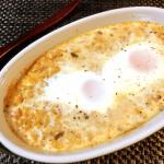 店長オススメ。オーロラチーズの絶品海老マヨ豆腐ココット。(糖質6.6g)
