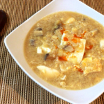 芯まで温まる。拉麺風みぞれオイスターの絹豆腐味噌雑炊。(糖質9.3g)
