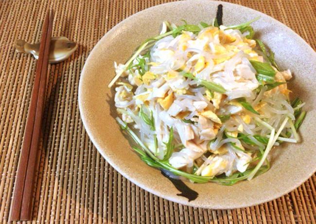 懐かし味を食べ放題。絶品モリモリ給食風異国サラダ(糖質5.4g)