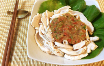 5分で激柔。鶏むね柔しゃぶの芳醇味噌サルササラダ(糖質5.3g)
