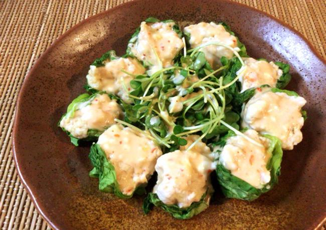 甘酸っぱ天国。スイチリマヨポンのささみ海老チーズ焼売(糖質4.3g)
