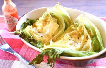 丸ごと余裕。白だしカレーのチーズレタスオーブン焼き(糖質4.8g)