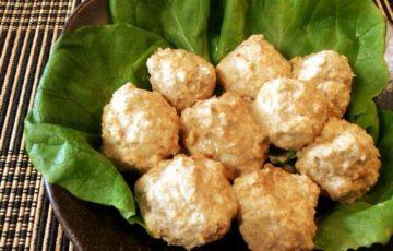THE・ど直球。極めて旨いスイチリ胡麻味噌エノキ鶏団子(糖質7.0g)