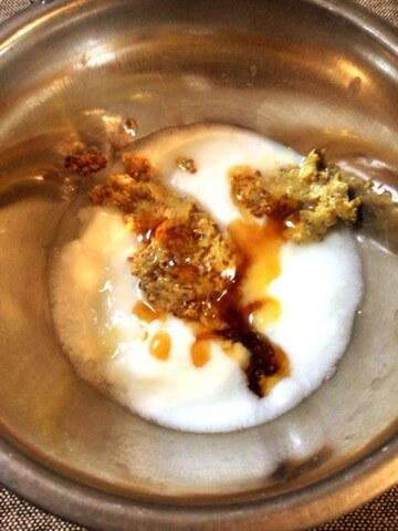 簡単ヨーグルトハニーマスタードチーズエッグ(糖質4.4g)
