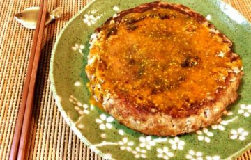 濃厚な黄身の旨み。黄身味噌マスタードのおろしinバーグ(糖質8.5g)