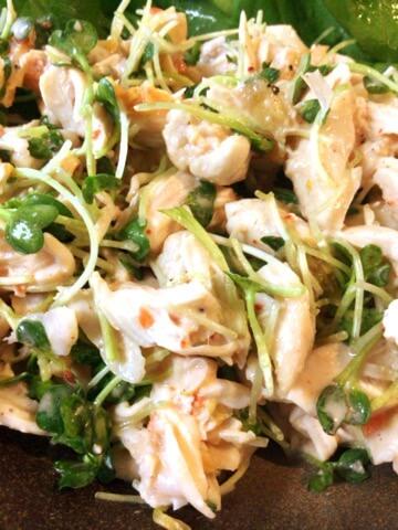 ヨーグルトキムチのポン生姜ささ身サラダ